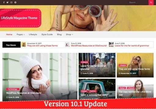 Lifestyle Magazine Pro WordPress Theme Update
