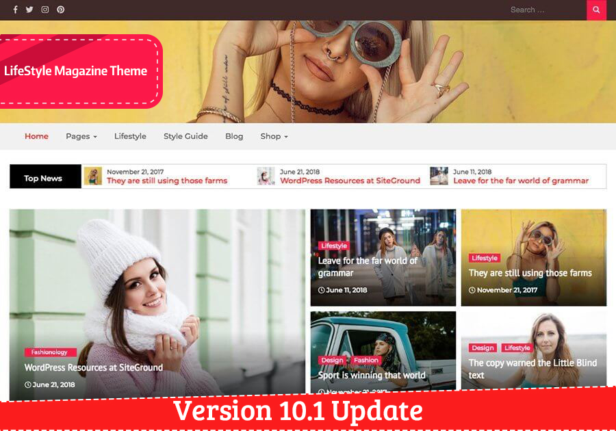 LifeStyle Magazine Theme Update to v10.1