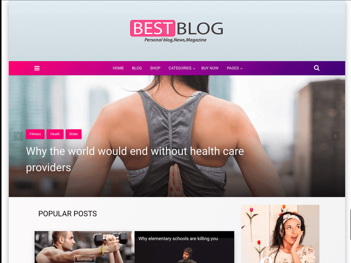best wordpress personal blog theme