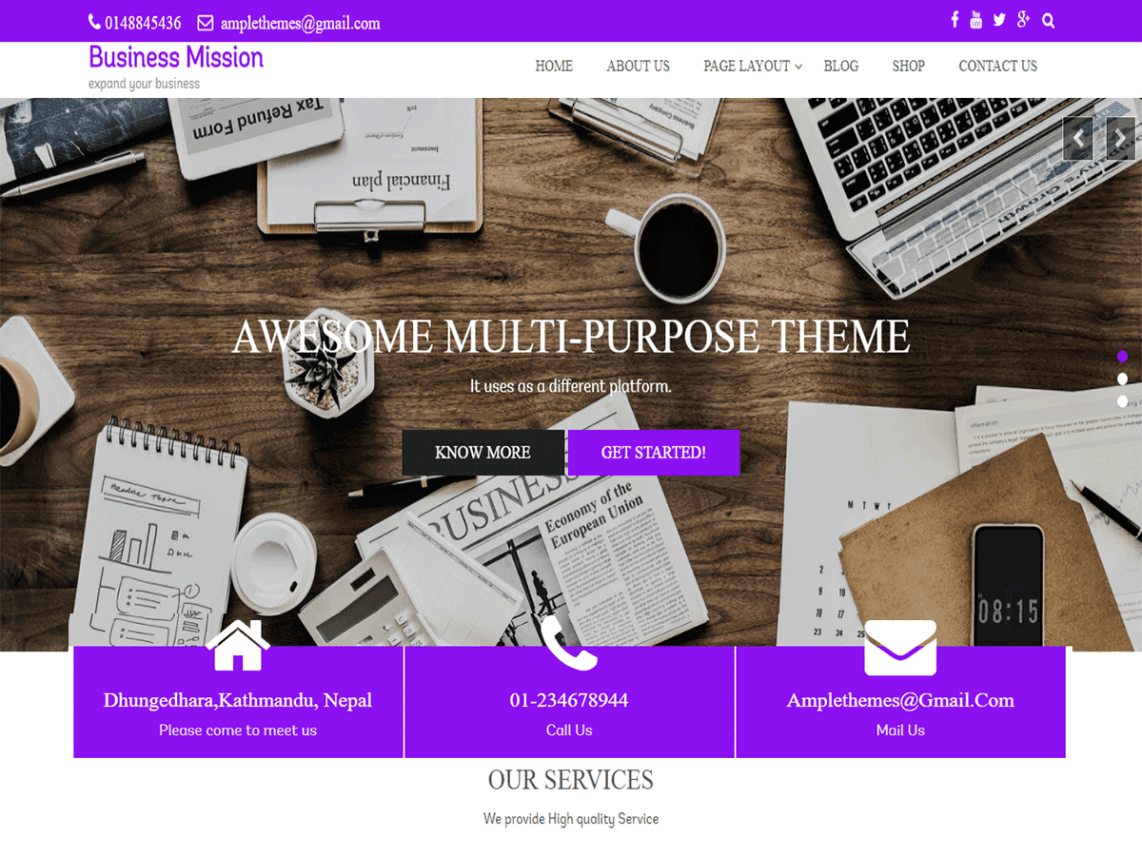 10 best free business themes for wordpress