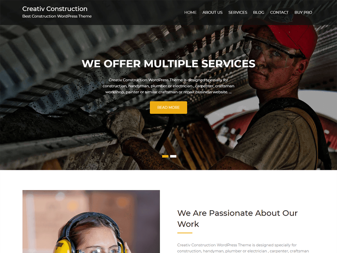 Free Contruction WordPress Themes