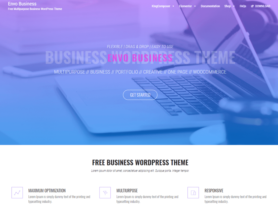 Envo-Business-WordPress-Theme