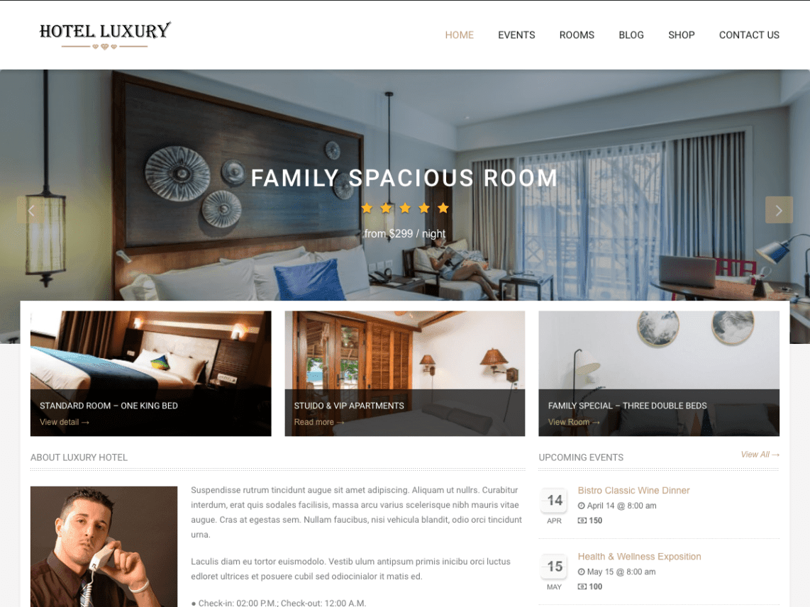 WordPress Themes for Hotels