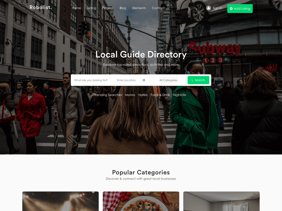 5 WordPress Free Themes For Directories