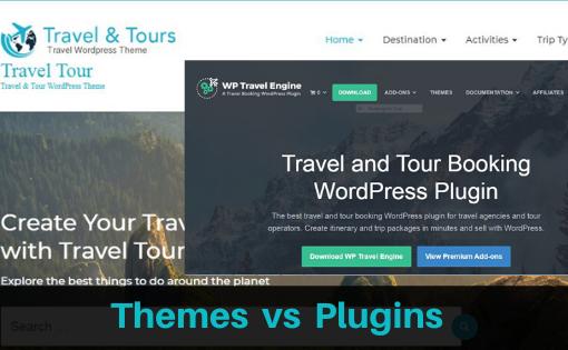 Wordpress Themes vs plugins