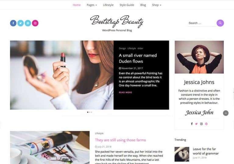5 Best Free Beauty WordPress Themes