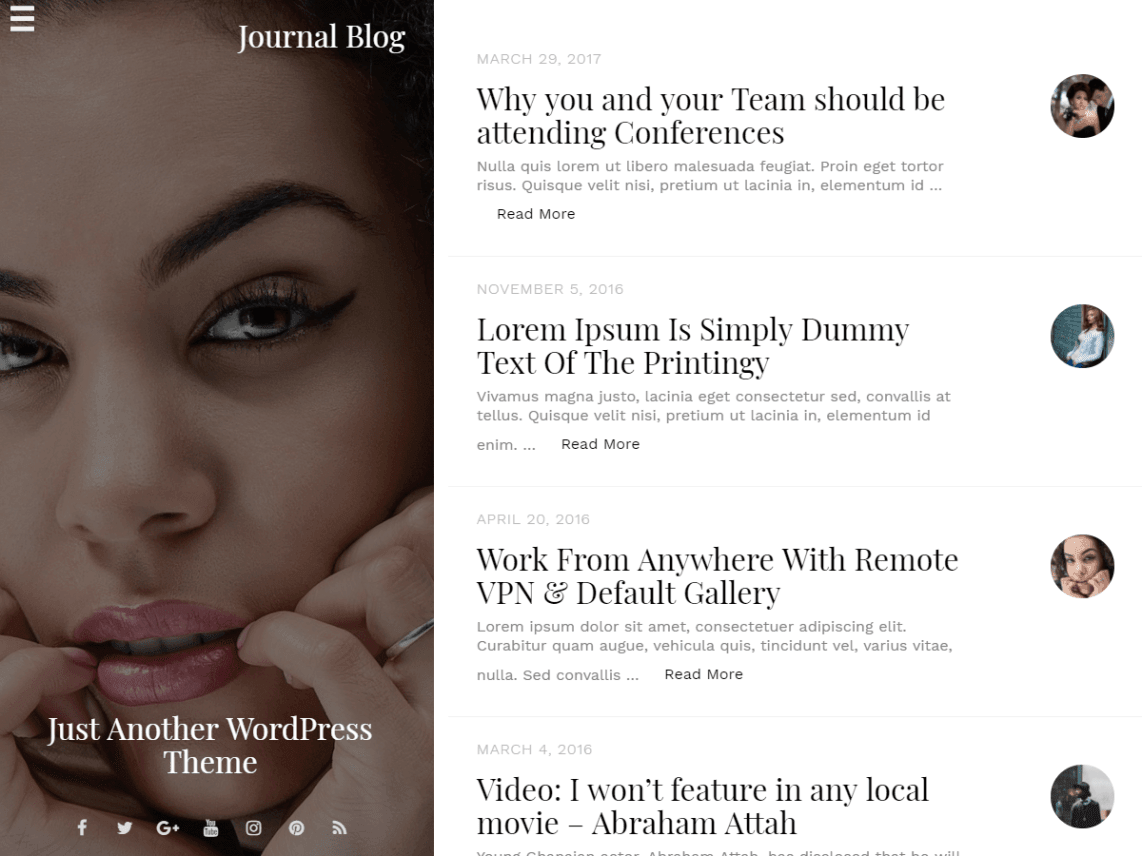 journal-blog-template