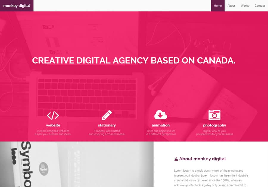 monkey-agency-theme