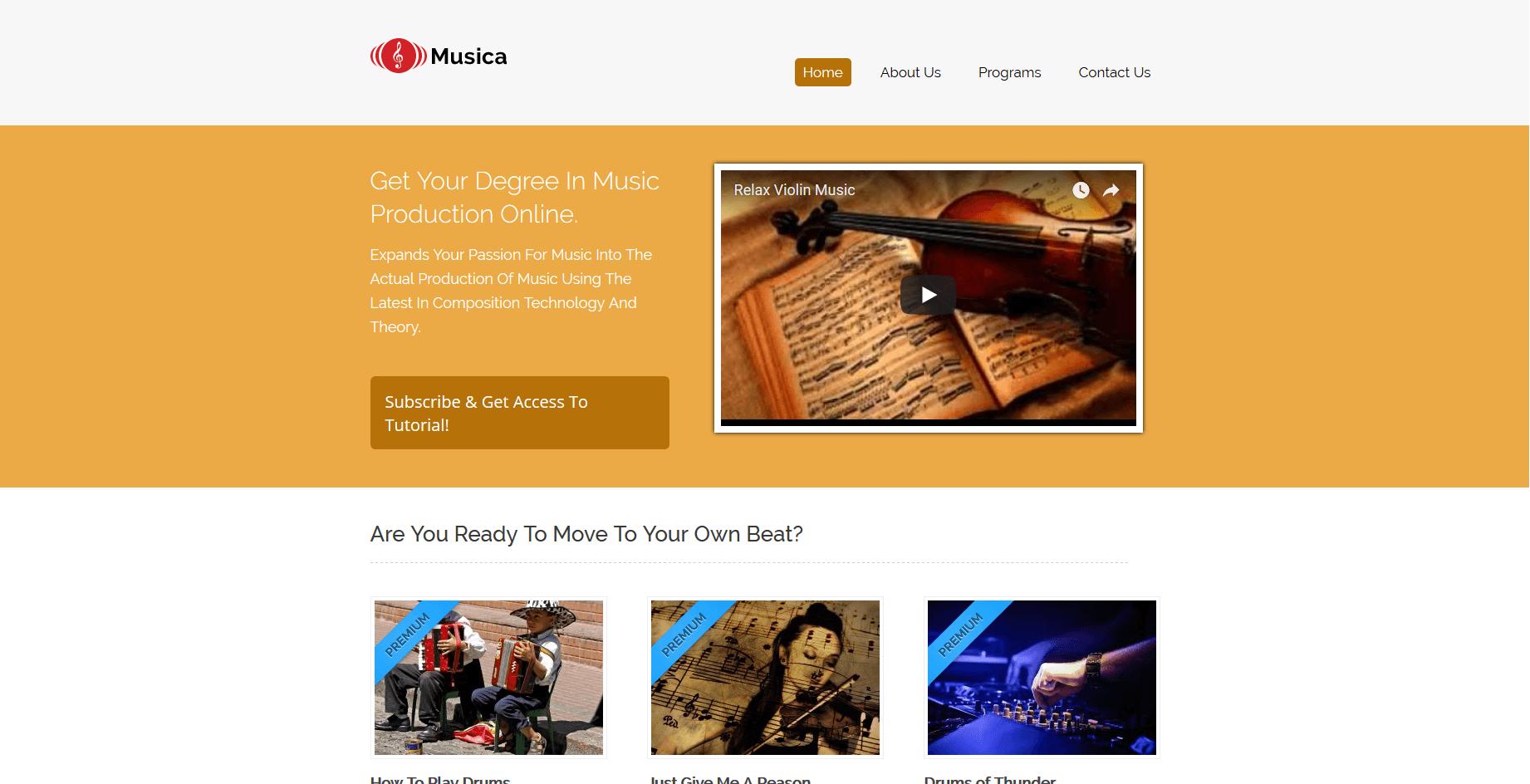 best premium wordpress music themes