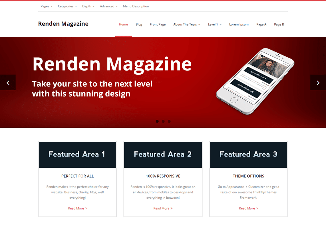 renden magazine template