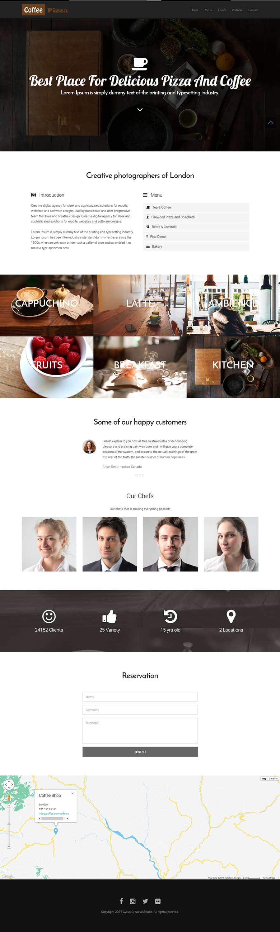 getbootstrap com templates - restaurant template the bootstrap themes