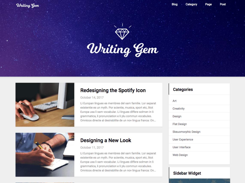 Writing Gem