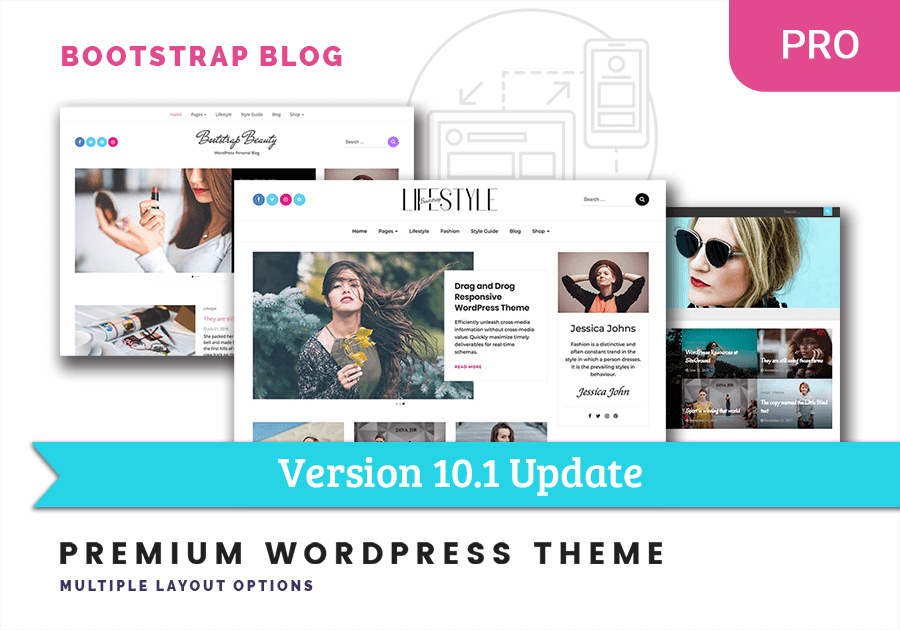 Bootstrap Blog Pro WordPress theme Update 10.1