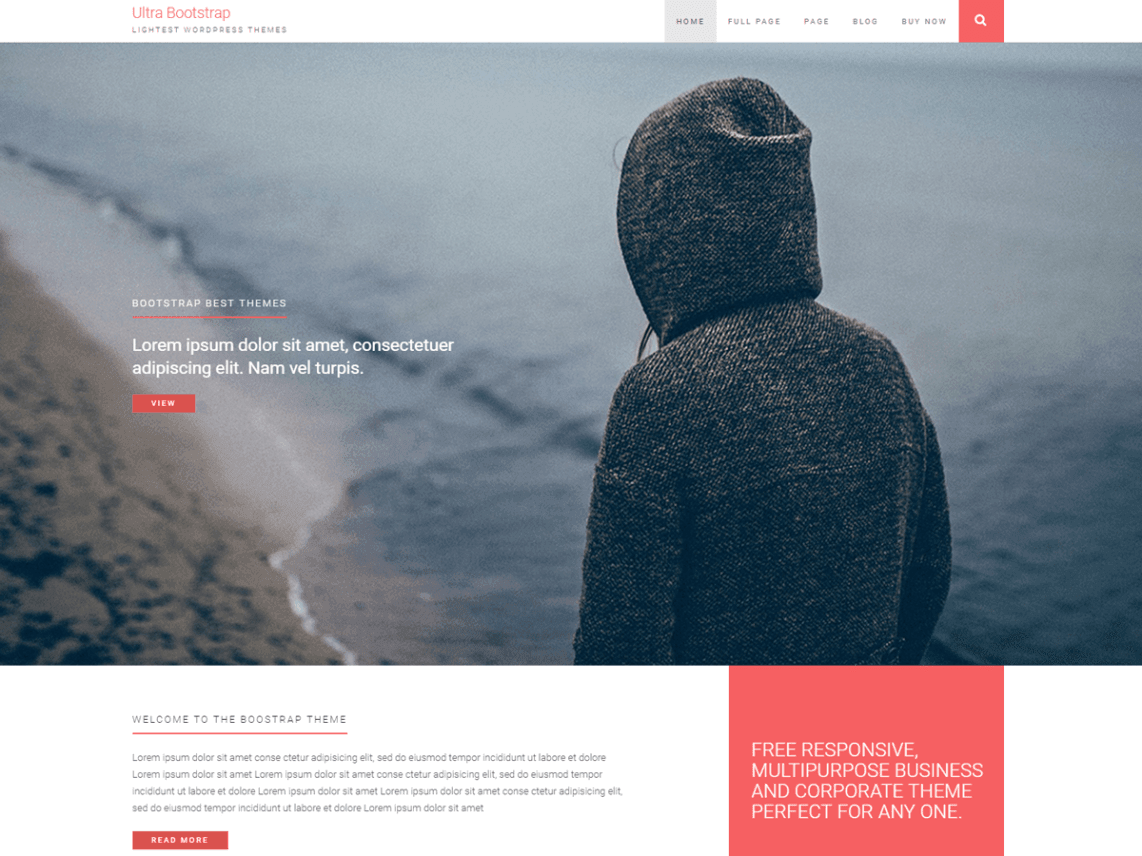 Best Free Bootstrap Themes For WordPress