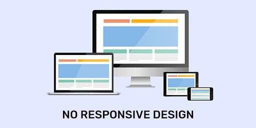 No responsive design